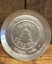 Vintage Original MAINE CENTRAL Railroad Railway 1962 Centennial Plate Ashtray