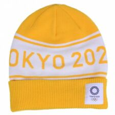 Tokyo 2020 Olympic Sports Game Knit Cap Yellow Official Licensed Fashion Goods