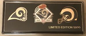 Los Angeles Rams Collector 3 Pin Gift Set  Limited Edition  CHRISTMAS
