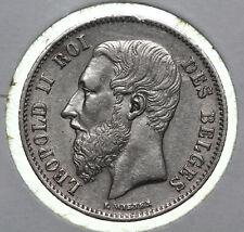 50 centimes 1867 Leopold II Belgium Rare