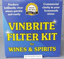 Vinbrite Homebrew Wine & Spirits Filter Kit Including Pads Coarse Premium Fine
