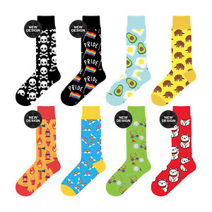 Sock Gift 8 PK Unisex Stance Funky Novelty Gift Party Casual Formal Work AU Sox