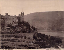 ALBUMEN PHOTO OF FALKENBURG CASTLE   RHINE RIVER - GERMANY