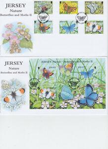 JERSEY Butterflies & Moths & Mini Sheet 2006 FIRST DAY COVER & PRESENTATION PACK