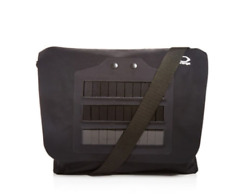 O-range Black Men's Dafne Waterproof Solar Panel Messenger Bag Laptop Case NEW