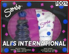 Samba Perfumers Workshop EDT 3.3oz+ 4.4oz Body Lotion 2 pc Gift Set