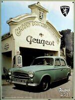 PLAQUE METAL vintage PEUGEOT 403 GARAGE - 40 x 30 cm