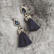 Luxury Tear Drop Earrings European Rhinestone Tassel Dangle Earrings for Women