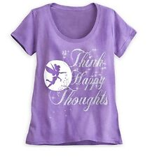 Disney Store Authentic Tinker Bell Silhouette Womens T Shirt Tee Size XS NWT