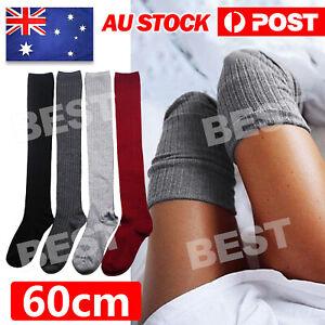 Women Girl Over The Knee Socks Thigh High Long Stockings Leggings Fashion