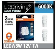 OSRAM T10 6000k w5w 168 White LED Parker Licence Plate Rego Interior Light PAIR