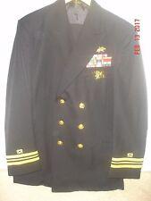 US Navy Service Dress Blue.LT.CDR/O4.SeaBee Civil Officer & Seal Warfare Trident