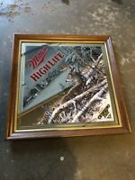"""1993 Miller High Life """"OPENING DAY"""" by Scott Zoellick BEER MIRROR Bar Sign 1of3"""