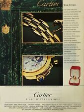 1989 Cartier Watch Jewelry Vintage Color Photo Print Ad