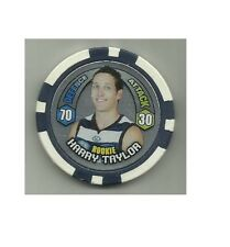 2009 afl CHIPZ PORT GEELONG ROOKIE HARRY TAYLOR POKER CHIP NIGHT AFL TOPPS