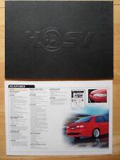 Holden HSV veicoli speciali 2001 Prestige BROCHURE-GTS, Grange & MALOO UTE