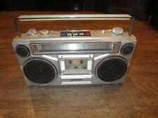 Vintage Sanyo AM/FM Cassette Player Boombox M9902-2 Portable Radio Music Works!