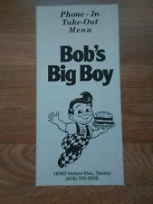 Vintage Bob's Big Boy Restaurant Menu