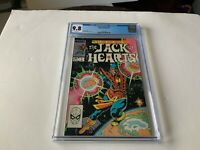 JACK OF HEARTS 1 CGC 9.8 WHITE PAGES MARVEL COMICS 1984