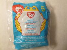 NEW 1999 McDonalds Happy Meal Toy #5 TY ROCKET THE BLUE JAY