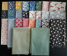 1930's Era Reproductions, Assorted Patterns, Various Sizes, 10 Yards Total