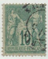 1876/1878 FRANCIA PACE E COMMERCIO 10 CENT. I°TIPO BUONA CENTRATURA USATO