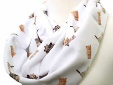 Cat infinity scarf white kitten present for cat lovers birthday gift for her