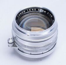 CANON 50MM F/1.5 LTM LEICA SCREWMOUNT LENS NO. 27204