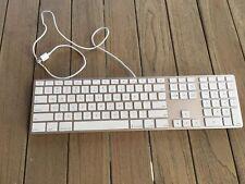 100%  A1243 Apple Aluminum Slim USB Keyboard US-ENG w/ Numeric Keypad MB110LL/B