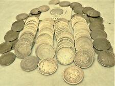 Coins-US Pre-War NICKELS: LIBERTY V - 1883 - 1912 Circulated