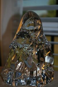 """Mikasa Germany Lead Crystal MADONNA & CHILD 7"""" Heavy Solid Figurine Paperweight"""