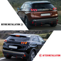 For Peugeot 3008 5008 2017 2018 Car Tail Pipe Exhaust Muffler Stickers Cover