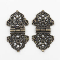 Vintage Alloy Hollow Flower Hinge Furniture Hardware Metal Hinges Cabinet Door