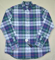 POLO RALPH LAUREN oxford shirt plaid button down top green Mens New L XL XXL 2XL