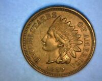 "1859 INDIAN HEAD CENT>>BETTER DATE<<""COPPER NICKEL"" ~A/U~ 4 DIAMONDS!   US  COIN"