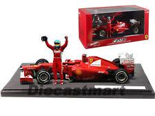 2012 FERRARI F1 F2012 GP MALAYSIA WIN FERNANDO ALONSO 1:18 BY HOTWHEELS BBW94