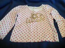 NWOT Jumping Beans 4T Cotton White w/ Pink Stars Top