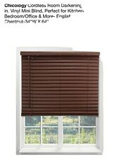 cordless wood blind 36x64 Expresso