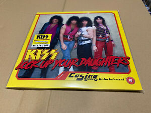 KISS 2 LP LOCK UP YOUR DAUGHTERS 22/01/1984 RED VINYL