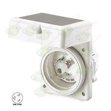 Hubbell 30 amp 125V Marine Shore / RV Power Cord Twist Lock Inlet HBL303NM