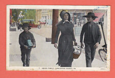 Pennsylvania- Lancaster County, Amish Family Postcard (A)