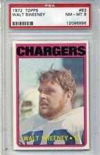 1972 Topps Football #63 - Walt Sweeney - PSA Graded 8 - Chargers (Box DP)