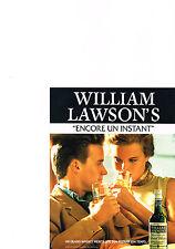 PUBLICITE ADVERTISING  1990   WILLIAM  LAWSON  whisky