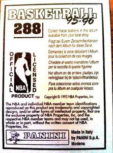 1995-96 Panini Stickers EUROPEAN Int'l 6-language UNSTUCK You Pick Player