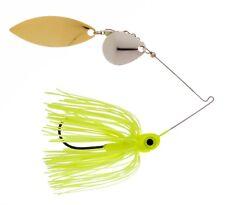 Kajun Boss 1/4 oz Chartreuse Spinner bait - colorado/willow