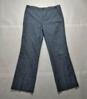 Banana Republic Womens Straight Leg Formal Dress Stretch Linen Pants Size 8