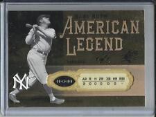 Babe Ruth 2008 SPX American Legend #1/1 (BR52) (9-13-1919)