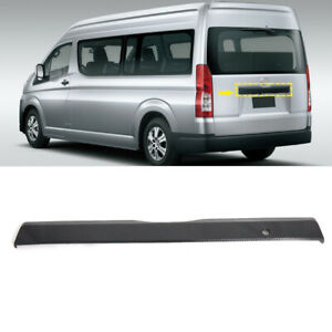 For Toyota HiAce H300 2019 2020 2021 Carbon Black Rear Trunk Lid Cover Trim