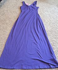 Tommy Girl Long Open Backed Purple Long Maxi Tank Dress Size Large New With Tags