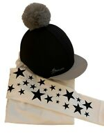 LeMieux Black Hat Silk and matching GGGear Cross Country Base layer,